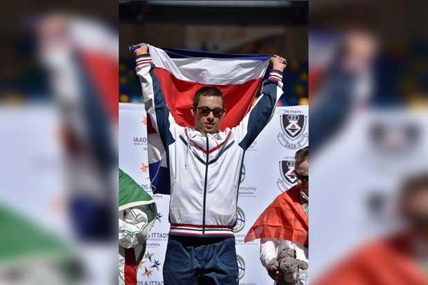 Tico ganó tercera medalla de oro en mundial para atletas con síndrome de Down