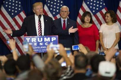 Discurso de Trump atrae más televidentes que el de Clinton