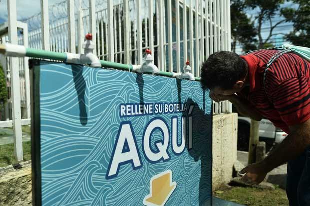 MarViva habilitó puesto de hidratación para romeros