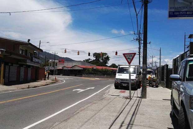 Intersección del Tejar de El Guarco tendrá cambios viales a partir de hoy