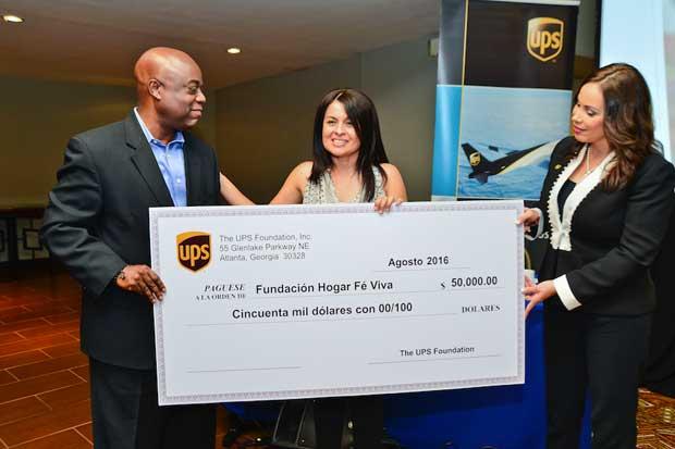 UPS donó $50 mil a organización sin fines de lucro para residencia de niños