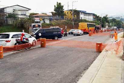Carretera en sector de la Pozuelo tendrá cierre nocturno hoy y mañana