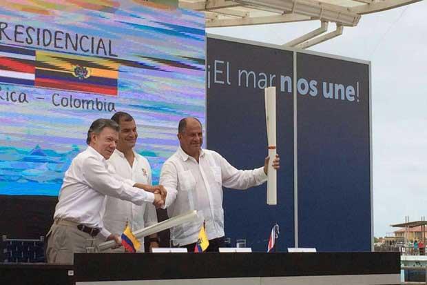 Ratifican límites marítimos entre Costa Rica y Ecuador