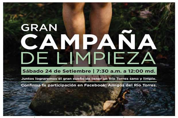 Campaña de recolección busca limpiar el río Torres