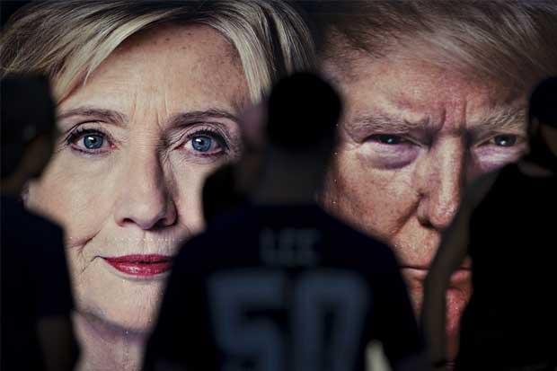 Clinton y Trump empatados previo a debate
