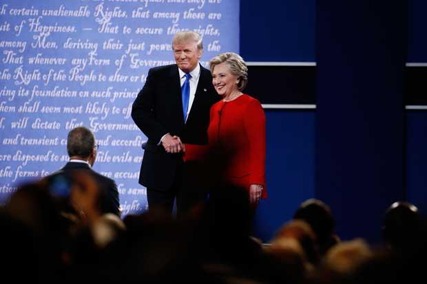 Clinton le ganó a Trump en su primer debate, según números