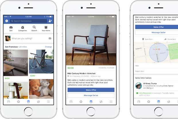 Facebook lanzó herramienta para venta y compra de artículos