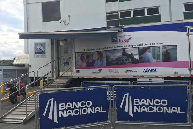 Banco Nacional y Clínica Bíblica realizarán 450 mamografías en zonas de alto riesgo
