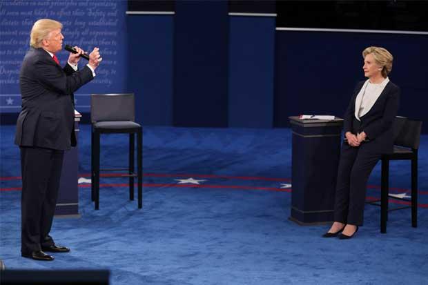 Grabación de Trump sobre mujeres acaparó 30 minutos del debate presidencial