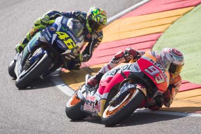 Márquez a un error de ganar el MotoGP