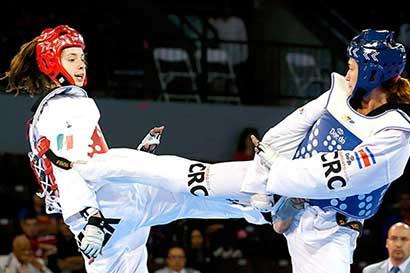 Exhibición de taekwondo en manos coreanas