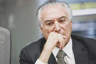 Crece desaprobación a Temer en tanto impulsa reformas en Brasil