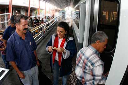 Servicio de tren San José - Belén se suspende esta tarde