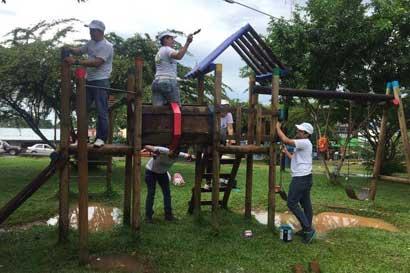 Gollo invirtió más de $60 mil en embellecer espacios públicos