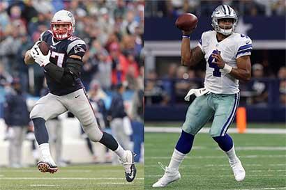 Pats y Cowboys lideran a mitad de temporada