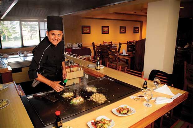 Comida japonesa transformada en espectáculo