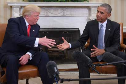Trump dijo que estará abierto a recibir consejos de Obama