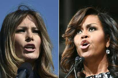 Michelle Obama y Melania Trump se conocen en la Casa Blanca