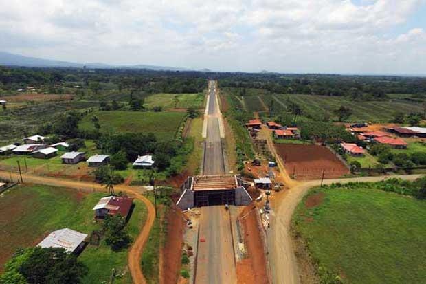Carretera que conecta el Norte con el Caribe del país tiene avance de 85%