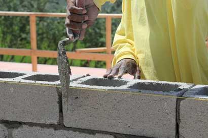 Aumento ligero en precios de la construcción