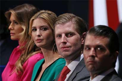 Hijos de Trump se encargarán de sus negocios