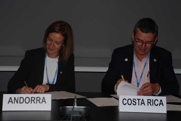 Costa Rica y Andorra trabajarán juntos para mitigar calentamiento global