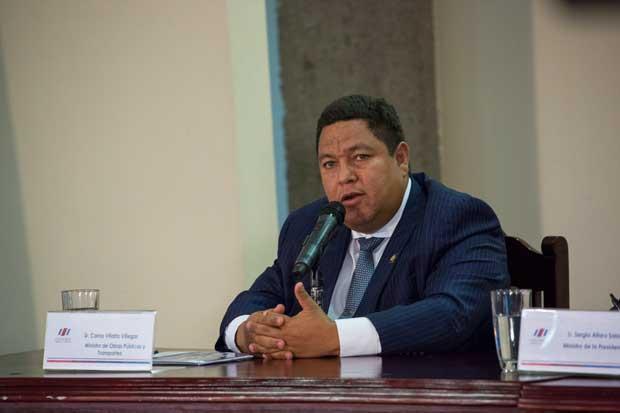 Ministro del MOPT reiteró que renunciará si arreglos de la platina no están listos en febrero