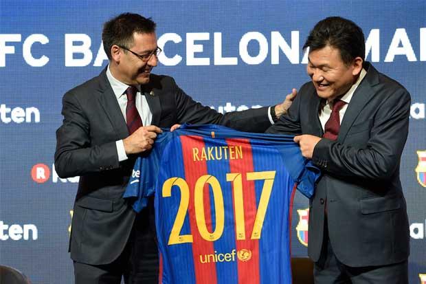 El grupo japonés Rakuten será el nuevo patrocinador del FC Barcelona