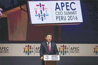 Presidente de China visita Perú Con la mira puesta en el libre comercio