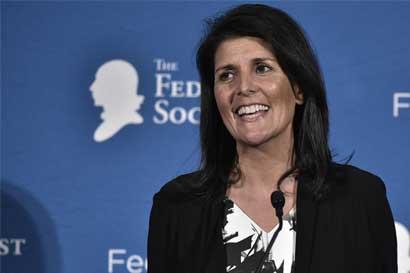 Trump elige a gobernadora Nikki Haley como embajadora ante la ONU