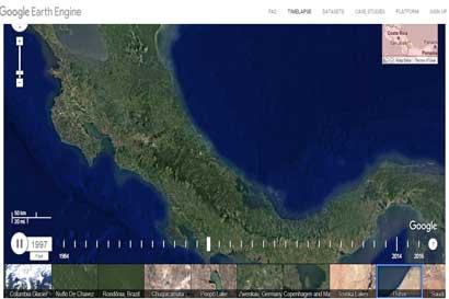 Google presentará cambios de la tierra con imágenes más claras