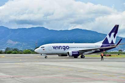 Wingo inició operaciones hacia Guatemala y Panamá