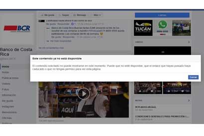 Banco de Costa Rica elimina comercial de redes sociales