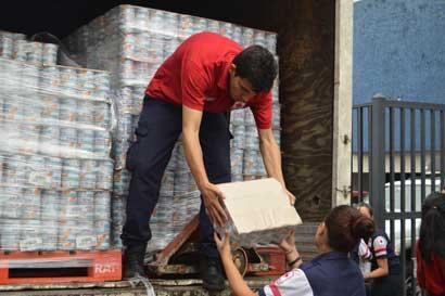 Cruz Roja cerró recepción de donativos para damnificados por Otto