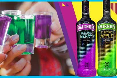 Smirnoff lanzó nuevo vodka con colores fluorescentes