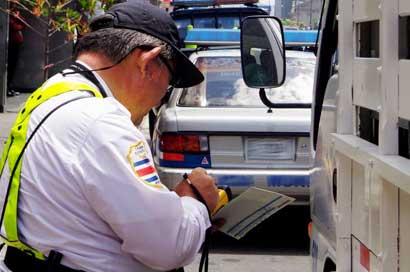 Multas de tránsito disminuirán hasta ¢3 mil en enero