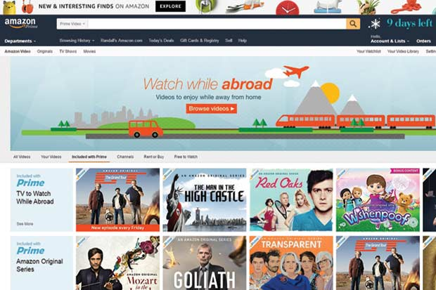 Amazon Prime Video aterrizó en el país