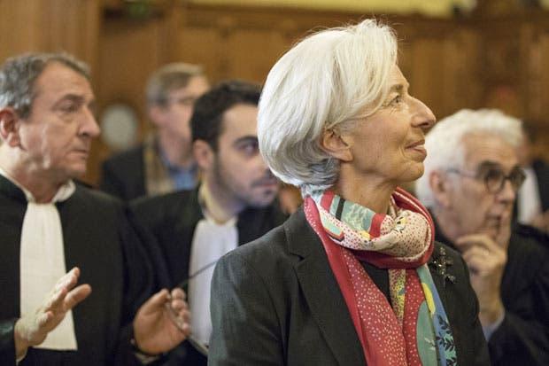 Lagarde declarada culpable de negligencia; no irá a la cárcel