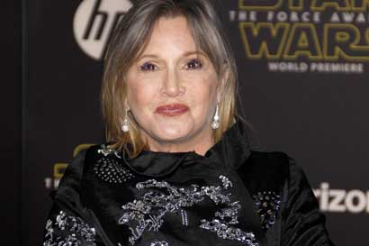 Murió Carrie Fisher, la Princesa Leia de 'Star Wars'