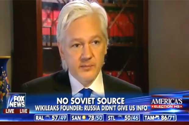 """Julian Assange: """"Estoy un 1.000% seguro de que Rusia no """"hackeó"""" a Estados Unidos"""""""