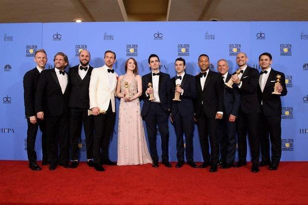 """""""La La Land"""" dominó los Globos de Oro"""