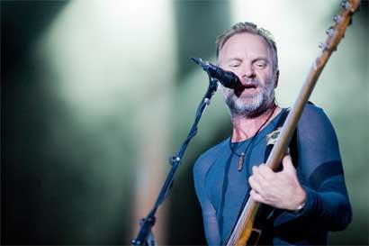 Sting se presentará en Costa Rica