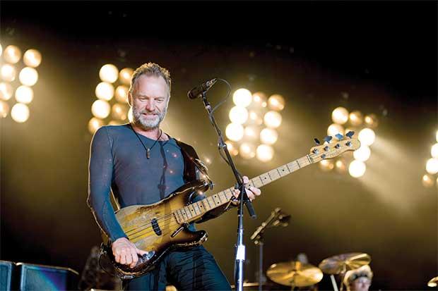 Concierto de Sting será el 9 de mayo