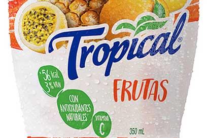Tropical refresca etiquetas de sus envases