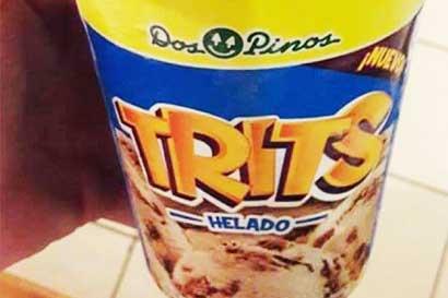 Dos Pinos lanzó Trits en caja con galleta gigante