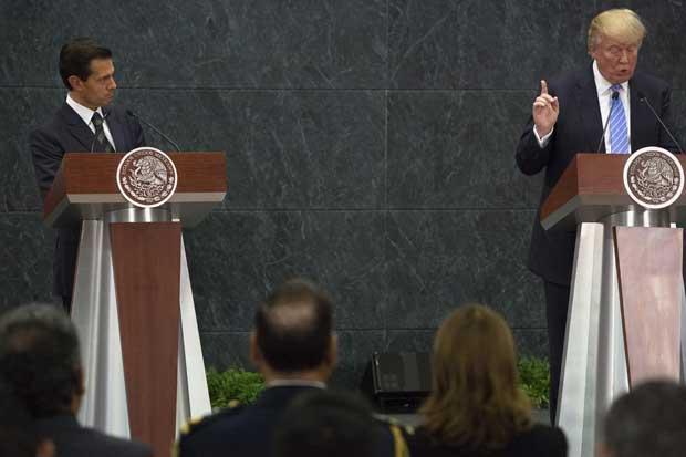 Trump cancelaría reunión con Peña Nieto si México no está dispuesto a pagar por el muro