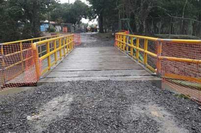 ICE construyó, en un mes, puente arrastrado por huracán
