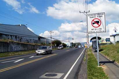 Nuevo horario para carril reversible en Heredia regirá a partir de mañana