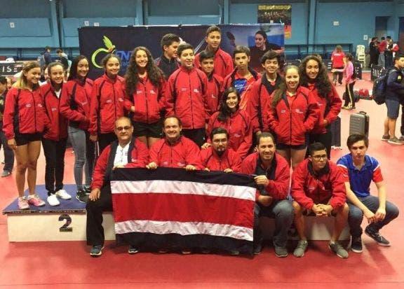 Costa Rica logra dos bronces en Centroamericano de Tennis de Mesa