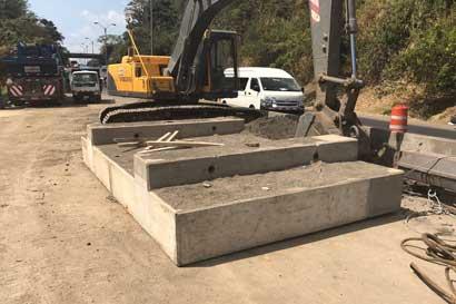 Colocarán bloque sísmico en puente Alfredo González Flores y generará cierre este domingo